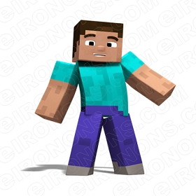 MINECRAFT STEVE VIDEO GAME T-SHIRT IRON-ON TRANSFER DECAL #VMC10