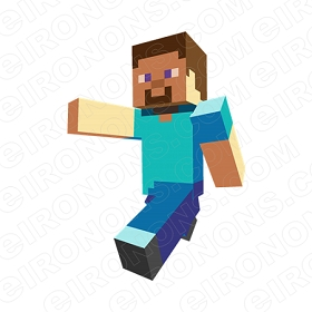 MINECRAFT STEVE VIDEO GAME T-SHIRT IRON-ON TRANSFER DECAL #VMC9
