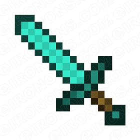 MINECRAFT SWORD VIDEO GAME T-SHIRT IRON-ON TRANSFER DECAL #VMC11