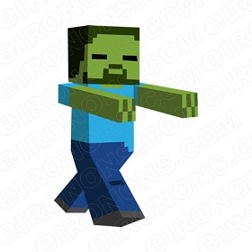 MINECRAFT ZOMBIE VIDEO GAME T-SHIRT IRON-ON TRANSFER DECAL #VMC12