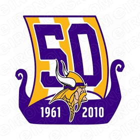 MINNESOTA VIKINGS 1961 TO 2010 LOGO SPORTS NFL FOOTBALL T-SHIRT IRON-ON TRANSFER DECAL #SFMV8