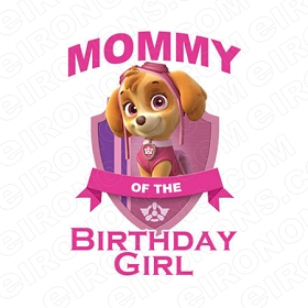 MOMMY OF THE BIRTHDAY GIRL SAYINGS T-SHIRT IRON-ON TRANSFER DECAL #BS19