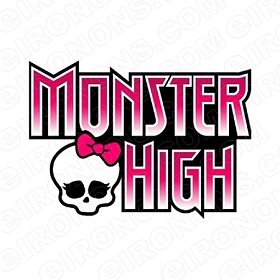 MONSTER HIGH LOGO CHARACTER T-SHIRT IRON-ON TRANSFER DECAL #CMH12