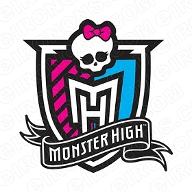 MONSTER HIGH LOGO CHARACTER T-SHIRT IRON-ON TRANSFER DECAL #CMH14