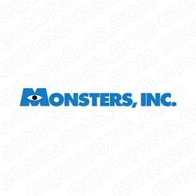 MONSTERS INC LOGO CHARACTER T-SHIRT IRON-ON TRANSFER DECAL #CMI8
