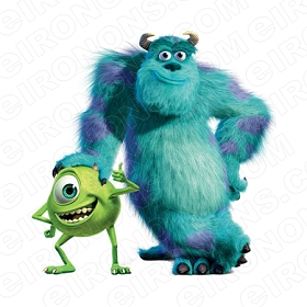 MONSTERS INC MIKE AND SULLEY CHARACTER T-SHIRT IRON-ON TRANSFER DECAL #CMI9