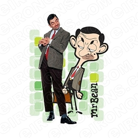 MR BEAN TV T-SHIRT IRON-ON TRANSFER DECAL #TVMB1
