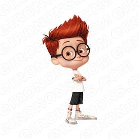 MR PEABODY & SHERMAN ARMS CROSSED CHARACTER T-SHIRT IRON-ON TRANSFER DECAL #CMPAS1