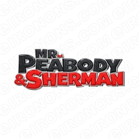 MR PEABODY & SHERMAN LOGO BLACK AND RED CHARACTER T-SHIRT IRON-ON TRANSFER DECAL #CMPAS7