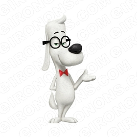 MR PEABODY & SHERMAN MR PEABODY HAND OUT CHARACTER T-SHIRT IRON-ON TRANSFER DECAL #CMPAS12