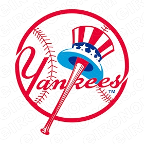 NEW YORK YANKEES PRIMARY LOGO 1947-1967 SPORTS MLB BASEBALL T-SHIRT IRON-ON TRANSFER DECAL #SBBNYY3