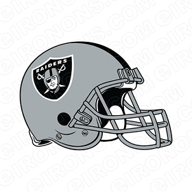 OAKLAND RAIDERS HELMET LOGO SPORTS NFL FOOTBALL T-SHIRT IRON-ON TRANSFER DECAL #SFOR1