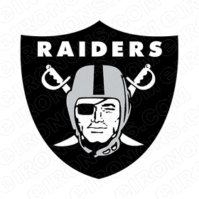OAKLAND RAIDERS PRIMARY LOGO 1964-1994 SPORTS NFL FOOTBALL T-SHIRT IRON-ON TRANSFER DECAL #SFOR4
