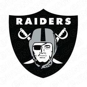 OAKLAND RAIDERS PRIMARY LOGO 1995-PRESENT SPORTS NFL FOOTBALL T-SHIRT IRON-ON TRANSFER DECAL #SFOR5