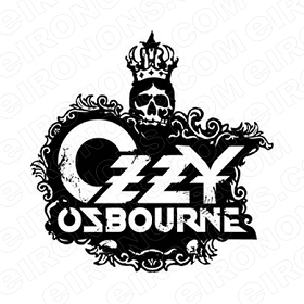 OZZY OSBOURNE LOGO MUSIC T-SHIRT IRON-ON TRANSFER DECAL #MOO1