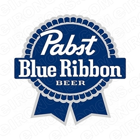 PABST BLUE RIBBON BEER LOGO ALCOHOL T-SHIRT IRON-ON TRANSFER DECAL #APBR1