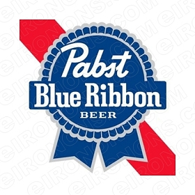 PABST BLUE RIBBON BEER LOGO ALCOHOL T-SHIRT IRON-ON TRANSFER DECAL #APBR4