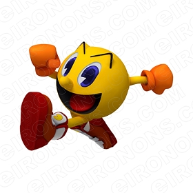 PAC-MAN ARMS OUT VIDEO GAME T-SHIRT IRON-ON TRANSFER DECAL #VPM1