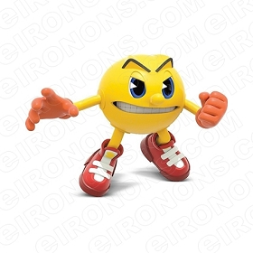 PAC-MAN MAD VIDEO GAME T-SHIRT IRON-ON TRANSFER DECAL #VPM5