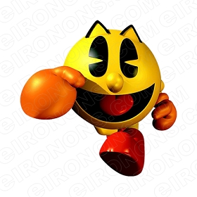 PAC-MAN RUNNING VIDEO GAME T-SHIRT IRON-ON TRANSFER DECAL #VPM8
