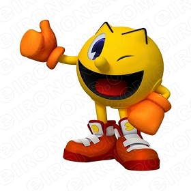 PAC-MAN WINK VIDEO GAME T-SHIRT IRON-ON TRANSFER DECAL #VPM10