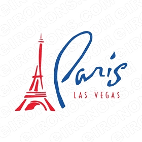PARIS LAS VEGAS T-SHIRT IRON-ON TRANSFER DECAL #LVS4