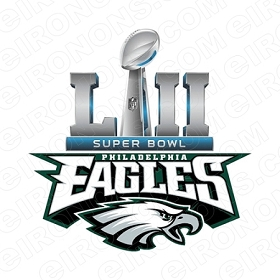 PHILADELPHIA EAGLES SUPER BOWL CHAMPIONS LOGO SPORTS NFL FOOTBALL T-SHIRT IRON-ON TRANSFER DECAL #SFPE5