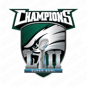 PHILADELPHIA EAGLES SUPER BOWL CHAMPIONS LOGO SPORTS NFL FOOTBALL T-SHIRT IRON-ON TRANSFER DECAL #SFPE6