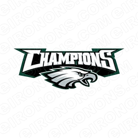 PHILADELPHIA EAGLES SUPER BOWL CHAMPIONS LOGO SPORTS NFL FOOTBALL T-SHIRT IRON-ON TRANSFER DECAL #SFPE7