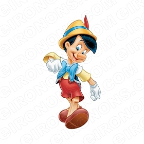 PINOCCHIO WALKING CHARACTER T-SHIRT IRON-ON TRANSFER DECAL #CP7