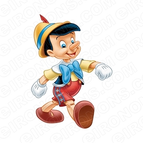 PINOCCHIO WALKING HANDS OUT CHARACTER T-SHIRT IRON-ON TRANSFER DECAL #CP8