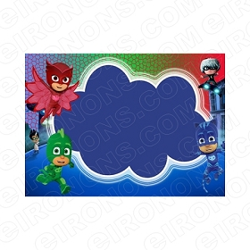 PJ MASKS BLANK EDITABLE INVITATION INSTANT DOWNLOAD #IPJM1