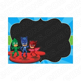 PJ MASKS BLANK EDITABLE INVITATION INSTANT DOWNLOAD #IPJM3