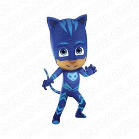 PJ MASKS CATBOY HANDS OUT CHARACTER T-SHIRT IRON-ON TRANSFER DECAL #CPJM5