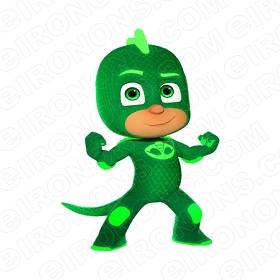 PJ MASKS GEKKO CHARACTER T-SHIRT IRON-ON TRANSFER DECAL #CPJM6