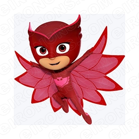 PJ MASKS OWLETTE FLYING CHARACTER T-SHIRT IRON-ON TRANSFER DECAL #CPJM12