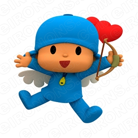 POCOYO CUPID CHARACTER T-SHIRT IRON-ON TRANSFER DECAL #CP5