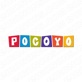 POCOYO LOGO CHARACTER T-SHIRT IRON-ON TRANSFER DECAL #CP17