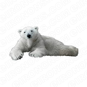 POLAR BEAR LAYING DOWN ANIMAL BEAR T-SHIRT IRON-ON TRANSFER DECAL #APB4