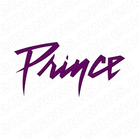 PRINCE LOGO MUSIC T-SHIRT IRON-ON TRANSFER DECAL #MP2