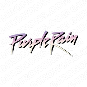 PRINCE PURPLE RAIN LOGO MUSIC T-SHIRT IRON-ON TRANSFER DECAL #MP5