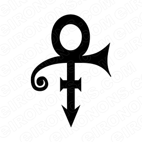 PRINCE SYMBOL BLACK MUSIC T-SHIRT IRON-ON TRANSFER DECAL #MP7
