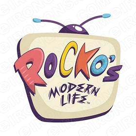 ROCKO'S MODERN LIFE LOGO CHARACTER T-SHIRT IRON-ON TRANSFER DECAL #CRML3