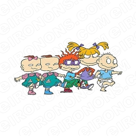 RUGRATS GROUP POSE CHARACTER T-SHIRT IRON-ON TRANSFER DECAL #CRR6