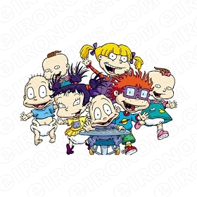 RUGRATS GROUP POSE CHARACTER T-SHIRT IRON-ON TRANSFER DECAL #CRR7