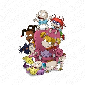 RUGRATS GROUP POSE CHARACTER T-SHIRT IRON-ON TRANSFER DECAL #CRR8