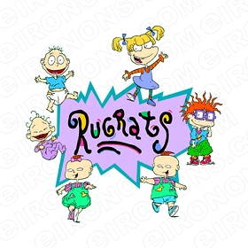 RUGRATS ON LOGO CHARACTER T-SHIRT IRON-ON TRANSFER DECAL #CRR12