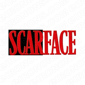 SCARFACE LOGO BLACK WHITE RED MOVIE T-SHIRT IRON-ON TRANSFER DECAL #MSF1