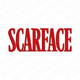 SCARFACE LOGO RED MOVIE T-SHIRT IRON-ON TRANSFER DECAL #MSF3
