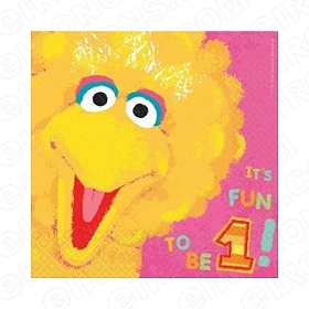 SESAME STREET BIG BIRD IT'S FUN TO BE 1! 1ST BIRTHDAY T-SHIRT IRON-ON TRANSFER DECAL #FBSS2